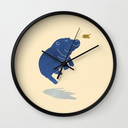 Happy Hippo Wall Clock