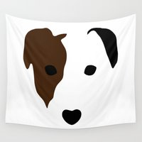 terrier Wall Tapestries featuring Russell Terrier by Dizzy Moments