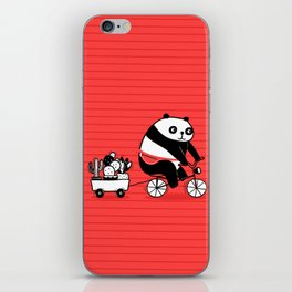Cacti delivery. Panda on bicycle. iPhone Skin