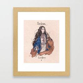 Sindar - Luthien Framed Art Print