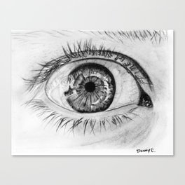 Eye closeup Canvas Print