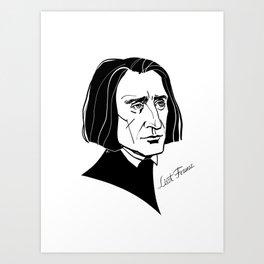 Franz Liszt Art Print