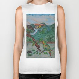 Tropical Dialogue Biker Tank