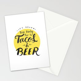 Tacos & Beer Stationery Cards