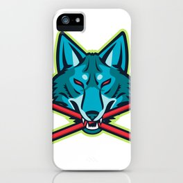 Coyote Ice Hockey Sports Mascot iPhone Case