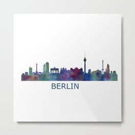 Berlin City Skyline HQ Metal Print