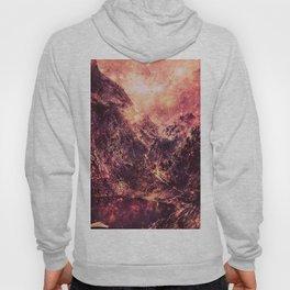Galaxy Mountains : Mauve Burgundy Hoody