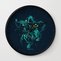 "carnage Wall Clocks featuring Gravity Levels ""Space Bird"" by Sitchko Igor"