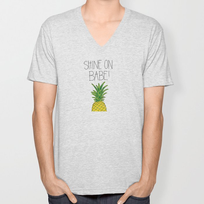 Pineapple Shine On Unisex V-Neck