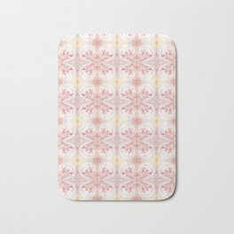 Shabby Chic Peach with White and Yellow Badematte