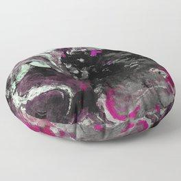 Purple and Black Minimalist Art / Abstract Painting Floor Pillow