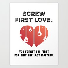 First Love [BLACK] Art Print