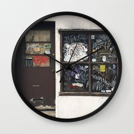 Fishtown Door and Window Graffiti Wall Clock