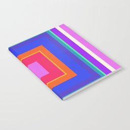 Squares in Purple, Blue, Red, Pink Notebook