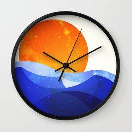 Sun in the Dunes Wall Clock