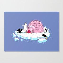 igloo disco Canvas Print