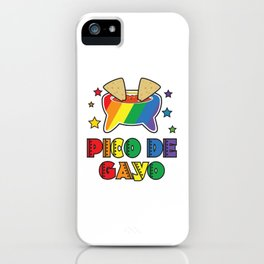 Gay Pride Gift Pico De Gayo Pico De Gallo Rainbow LGBT iPhone Case