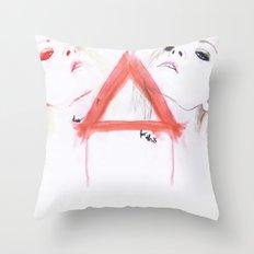 too hipster Throw Pillow