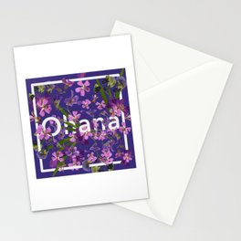 Ohana Purple Boho Floral  Stationery Cards