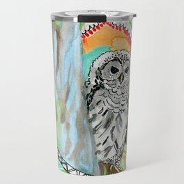 Owl Dreamcatcher Dream Travel Mug