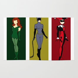 Awesome Women of the DC Villains Rug