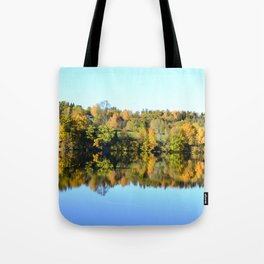 Mirroring nature Tote Bag