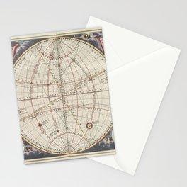 Keller's Harmonia Macrocosmica - Celestial and Terrestrial Hemisphere 1861 Stationery Cards