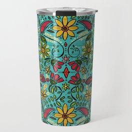 aziza turquoise Travel Mug