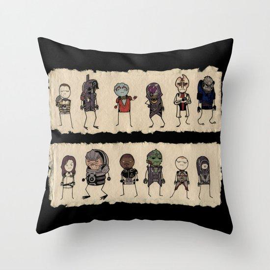 Mass Effect 2 Normandy crew Throw Pillow