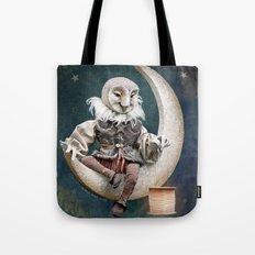 Rucus Studio Owl Poet Tote Bag