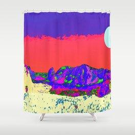 Sun mountains Shower Curtain