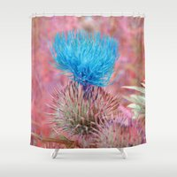 weed Shower Curtains featuring Cactus Weed by J's Corner