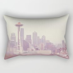 Thinking of you. Seattle skyline Space Needle photograph Rectangular Pillow