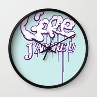 gore Wall Clocks featuring Gore j'adore by Iksoner