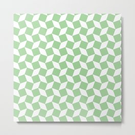 Mint Op Art Pattern Metal Print