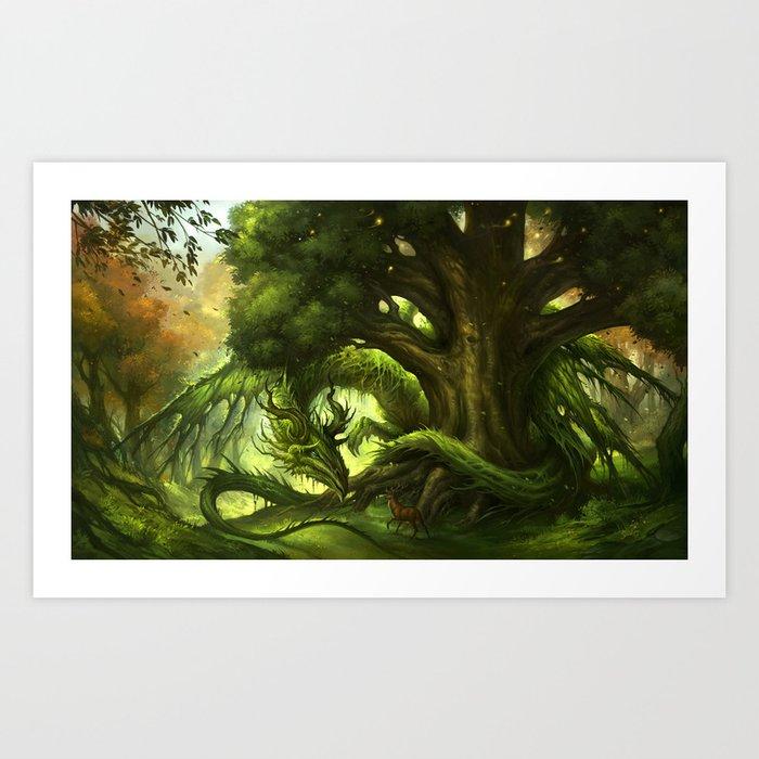 Green Dragon Art Print