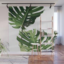 Tropical Leaves Monstera Wall Mural