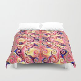 Colorful Seamless Wave Spiral Abstract Pattern Duvet Cover
