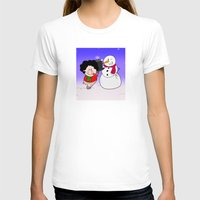 snowman T-shirts featuring Snowman by Afro Pig