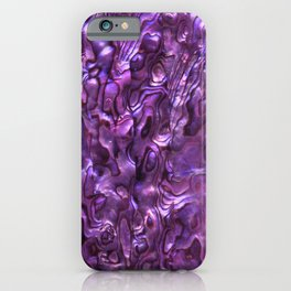 Abalone Shell | Paua Shell | Sea Shells | Patterns in Nature | Magenta Tint | iPhone Case