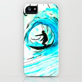 Solo - Surfing the big blue wave iPhone Case