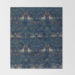 "William Morris ""Bird"" Throw Blanket"