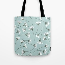 Queen Anne's Lace Floral Pattern Tote Bag