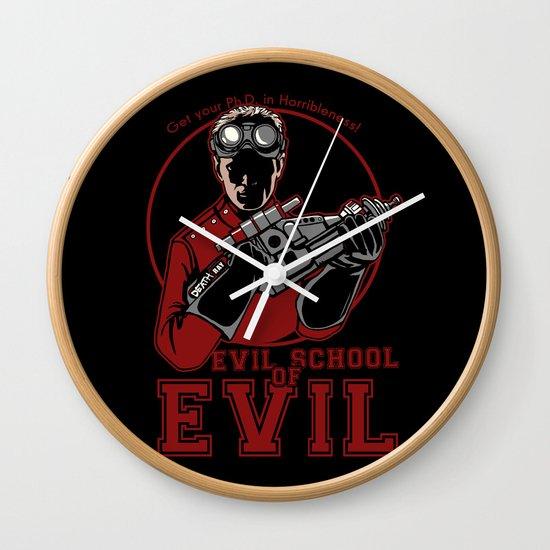 Dr. Horrible's Evil School of Evil Wall Clock