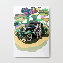 Girls and Cars Metal Print