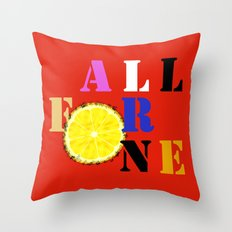 All For One Throw Pillow