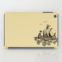 rowing iPad Cases featuring Viking ship 2 by mangulica
