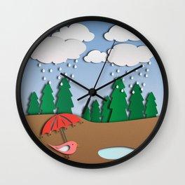 Digital papercut Wall Clock