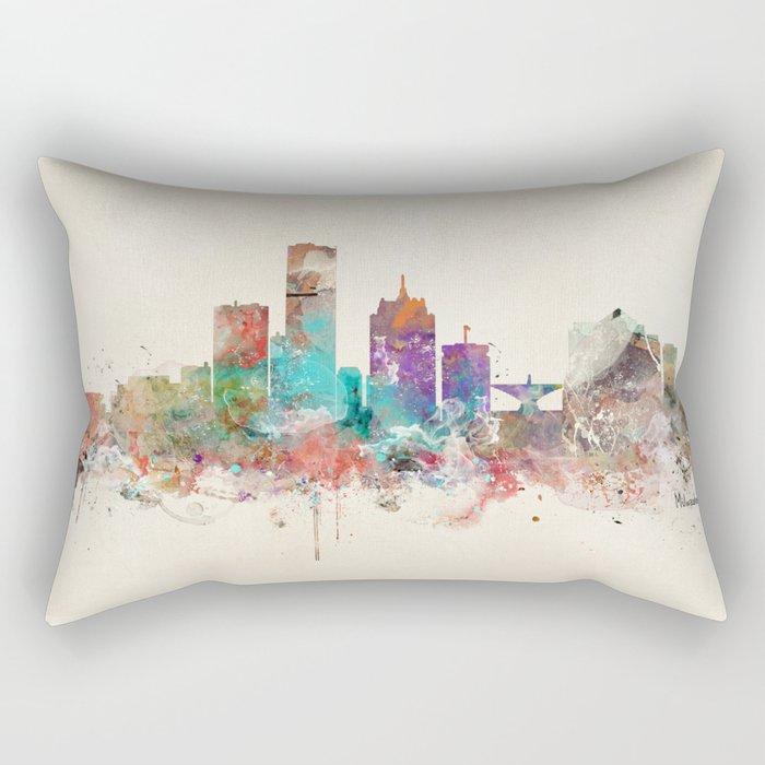 milwaukee wisconsin skyline Rectangular Pillow