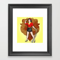 Belle Bait Framed Art Print